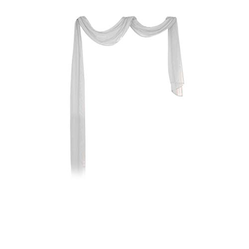 Yucode 1 Pc Sheer Voile Curtain Sheer Bright Window Scarf Premium Valance Scarves Standard 35