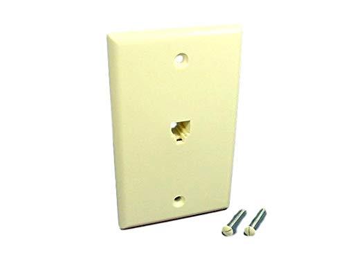 - Leviton - 4625b-44a - Product - 6p4c Sgl Gang Wallplate Al