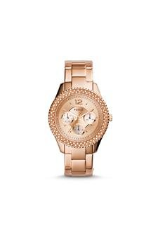 Fossil-Es3590p-Stella-Multifunction-Rose-Tone-Stainless-Steel-Watch-Watch-For-Women