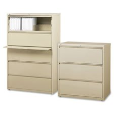 Lorell 5-Drawer Lateral File, 36 by 18-5/8 by 67-11/16-Inch, Putty