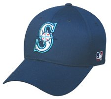 MLB YOUTH Seattle MARINERS Navy Blue Hat Cap Adjustable Velcro TWILL