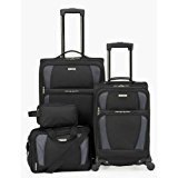 Tag Horizon 4-piece Spinner Luggage Set, Black by TAG
