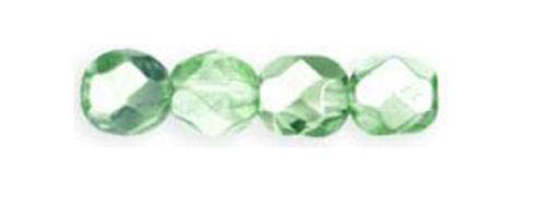 Making 50 Peridot Metallic Faceted Glass Round Beads 6MM ()