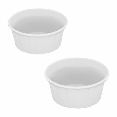 7 Ounce White Pack - CorningWare COMINHKPR96801 French White III Two 7 oz Round Ramekins, 1,