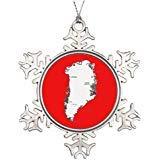 Cheyan Personalised Christmas Tree Decoration Greenland Map Pictures of Decorated Christmas Trees