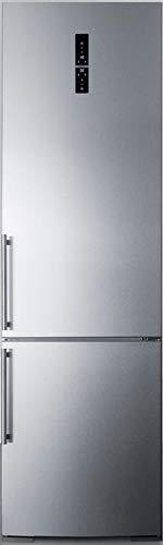 Summit FFBF181ESIM 24 Inch Counter Depth Bottom Freezer Refrigerator in Stainless Steel ()