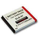 Replacement battery for samsung camera, Part # SLB-07, SLB-07A