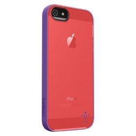 Belkin Grip Candy Sheer Translucent Gel Protection Case for Iphone 5, Peach/purple by Belkin Components