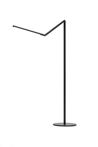 Koncept AR5000-W-MBK-FLR Z-Bar LED Floor Lamp , Warm Light, Metallic Black by Koncept