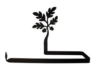 UPC 604414008388, Village Wrought Iron Acorn Paper Towel Holder Horizontal Wall Mount