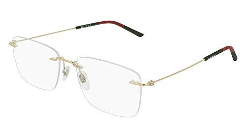 Gucci GG 0399O 004 Gold Metal Rimless Eyeglasses 56mm