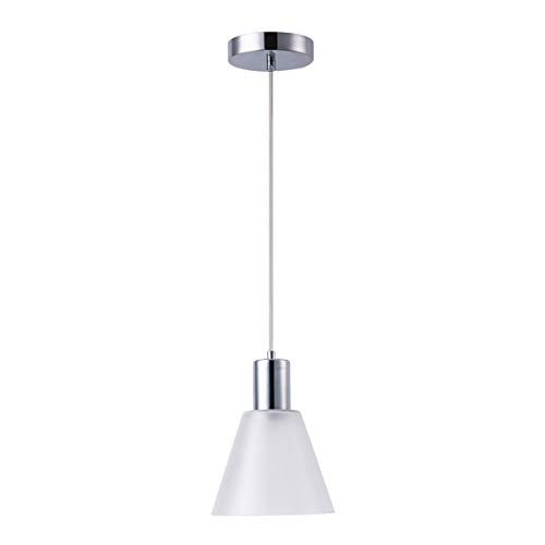 Harchee Mini Pendant Lighting with Cone Frosted-Glass Shade, Adjustable LED Modern Pendant Light Fixture Ceiling Hanging Lamp for Kitchen Island Living Room Counter Bar Cafe 7W Daylight 6000K (Pendant Led Lamps)