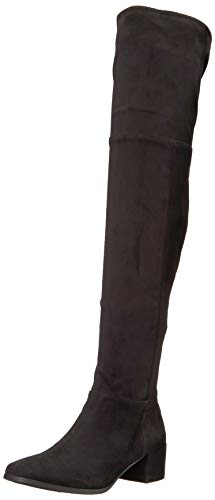 Chinese Laundry Women's Felix Over The Over The Knee Boot, Black Suede, 9 M US