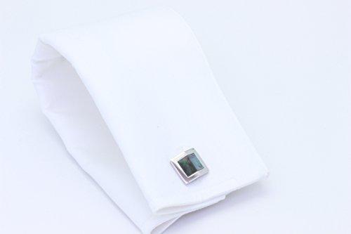 Zsamuel-Mens-Sterling-Silver-Black-Mother-of-Pearl-Gable-Design-Cufflinks
