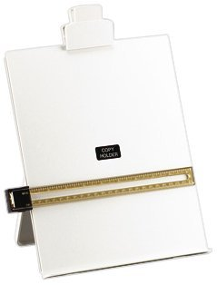 5 Star Office Desktop Copyholder with Line Guide Ruler A4 Grey ()