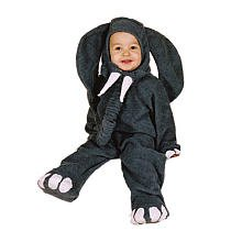Elephant Halloween Costume - Infant Size Small 6 - 12 (Circus Costumes For Babies)