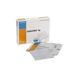 Smith & Nephew Durafiber Ag Gelling Fiber Dressing 4'' x 4'' Absorbent, Non-Woven (Box of 10) by Smith & Nephew