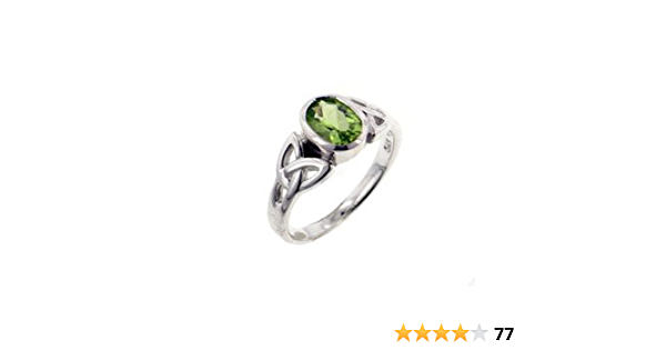 size 7 12 Natural Oval Peridot on Sterling Silver Ring large peridot