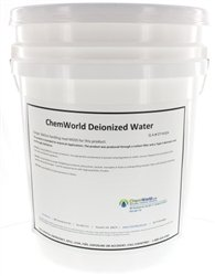ChemWorld Type II Deionized Water - 5 Gallons