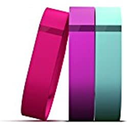Fitbit Flex Vibrant Accessory Pack, Violet/Pink/Teal, Small