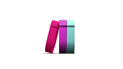 Fitbit Flex Vibrant Accessory Pack, Violet/Pink/Teal, Large
