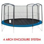 16' PREMIUM TRAMPOLINE REPLACEMENT NET FOR 4 ARCHES