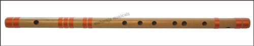 Indian Flute Bansuri, Maharaja Musicals, Scale G Sharp Medium 13.2 Inches, Indian Bansuri - Perfectly Tuned Concert Quality Bamboo Flute, Nylon Pipe Bag (PDI-CGF)
