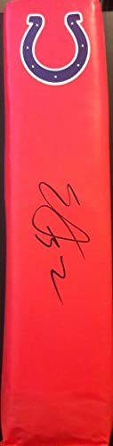 Edgerrin James Indianapolis Colts Autographed Signed Autograph NFL Football Pylon Beckett Certed