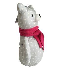 Bolsa de pijama ETAM suave hipoalergénico suave oso pijama muñeca gris blanco lunares fucsia, 8 x 14 x 6 cm (LxHxW): Amazon.es: Juguetes y juegos