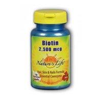Biotin 2500 Mcg 100 Caps - Biotin, 2500 mcg, 100 caps by Nature's Life (Pack of 2)
