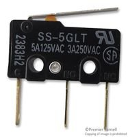 MICROSWITCH, SPDT, LEVER, 125VAC, 5A SS-5GLT By OMRON ELECTRONIC COMPONENTS SS-5GLT-OMRON ELECTRONIC COMPONENTS