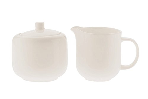 - White Basics Collection, Sugar and Creamer Bowl Set, White