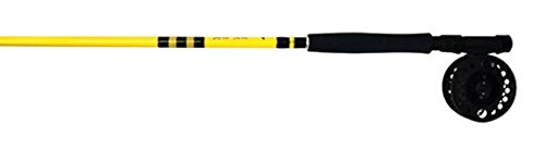 Eagle Claw Fly Combo, 2 Piece (Yellow, 8-Feet 6-Inch) Eagle Claw Fly Fishing Rods