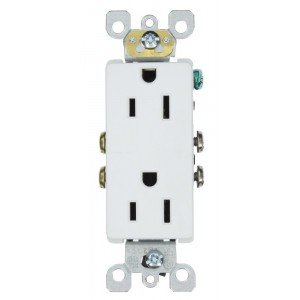 Leviton 5325-sw Decora Duplex Steckdose, self-grounding, weiß, 15 ...