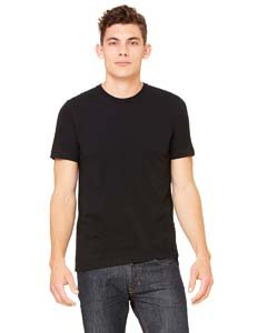 Bella 3001 Unisex Jersey Short Sleeve Tee   Black  Extra Large