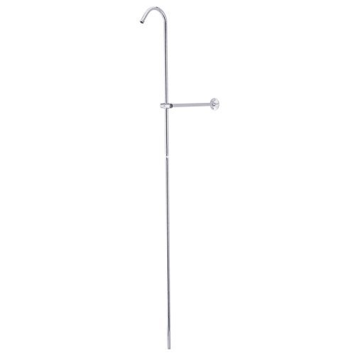 Shower Riser And Wall Support Finish: Polished Chrome