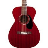 Guild GAD M-120E Concert Size Acoustic-Electric Guitar - Cherry Red with  Case