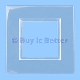 finger plate light switch surround translucent clear 2 pack h6