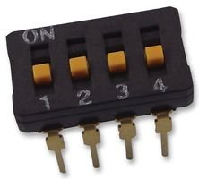 SWITCH RAISED ACTUATOR 4 WAY A6D4103 By OMRON ELECTRONIC COMPONENTS DIP