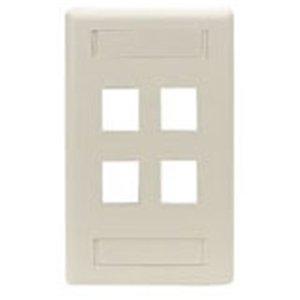Black N White Faceplates - Black Box Gigastation2 4 Socket Network Faceplate . 4 X Socket(S) . White