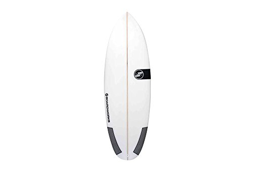 Boardworks 6'10'' Poly Mini Mod 2 Surfboard - white, one size by Boardworks