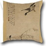 (Oil Painting Bian Shoumin - Geese Descending On A Sandbank Throw Pillow Covers 20 X 20 Inches / 50 By 50 Cm Gift Or Decor For Gril Friend,festival,car Seat,bf,bar,festival - 2 Sides)
