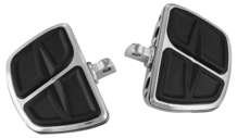 Kuryakyn 7610 Motorcycle Accessory: Kinetic Mini Board Floorboards with Male Mount Adapters, Chrome, 1 Pair ()
