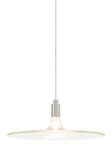(Tech Lighting 700FJBIZCS, Biz Mini Low Volt Round Pendant, 1 Light Halogen, Nickel)