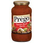 Prego 100% Natural Tomato Basil Garlic Pasta Sauce 24 oz (Pack of 12)