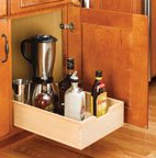 Pro Pack of 5Pcs, Base Cabinet Pull-Out Systems With Standard Close, 11''Wx 18-1/2''D X 5-5/8''H, Framed, 15'', Tan/50 Lb, Wood