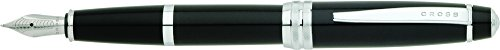 Cross Bailey, Black Lacquer, Fountain Pen with Medium Nib (AT0456-7MS) - Cross Fountain Pen Converter