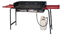Pro 3 Burner Stove with Wind Screen and Shelves by Burner Stove