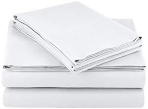 Plushy Comfort Luxury Brand, California King Sized Split Sheet Set 5 Piece, 100 Percent Egyptian Cotton 600 Thread Count, White Plain