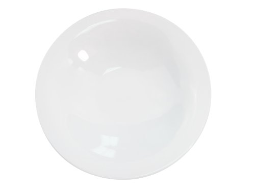 CAC China RCN-210 Clinton Rolled Edge 10-Inch Super White Porcelain Coupe Bowl, 22-Ounce, Box of 24